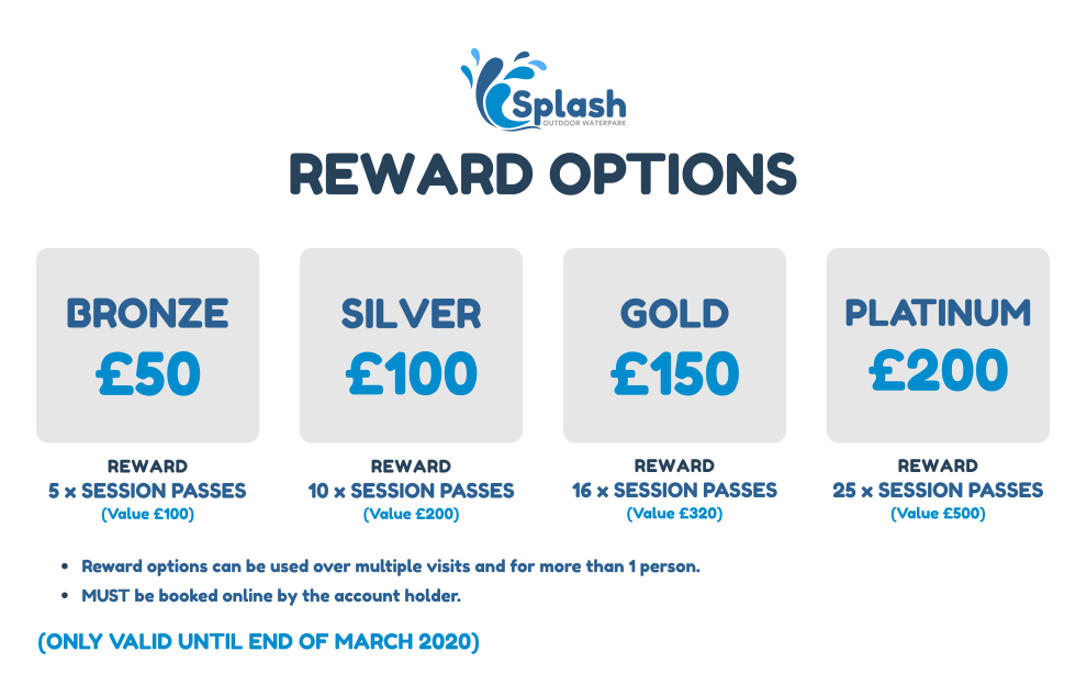 Splash Reward options    website image   landscape