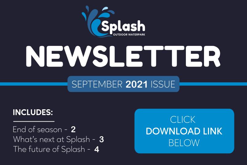 Splash Newsletter   Webpage image